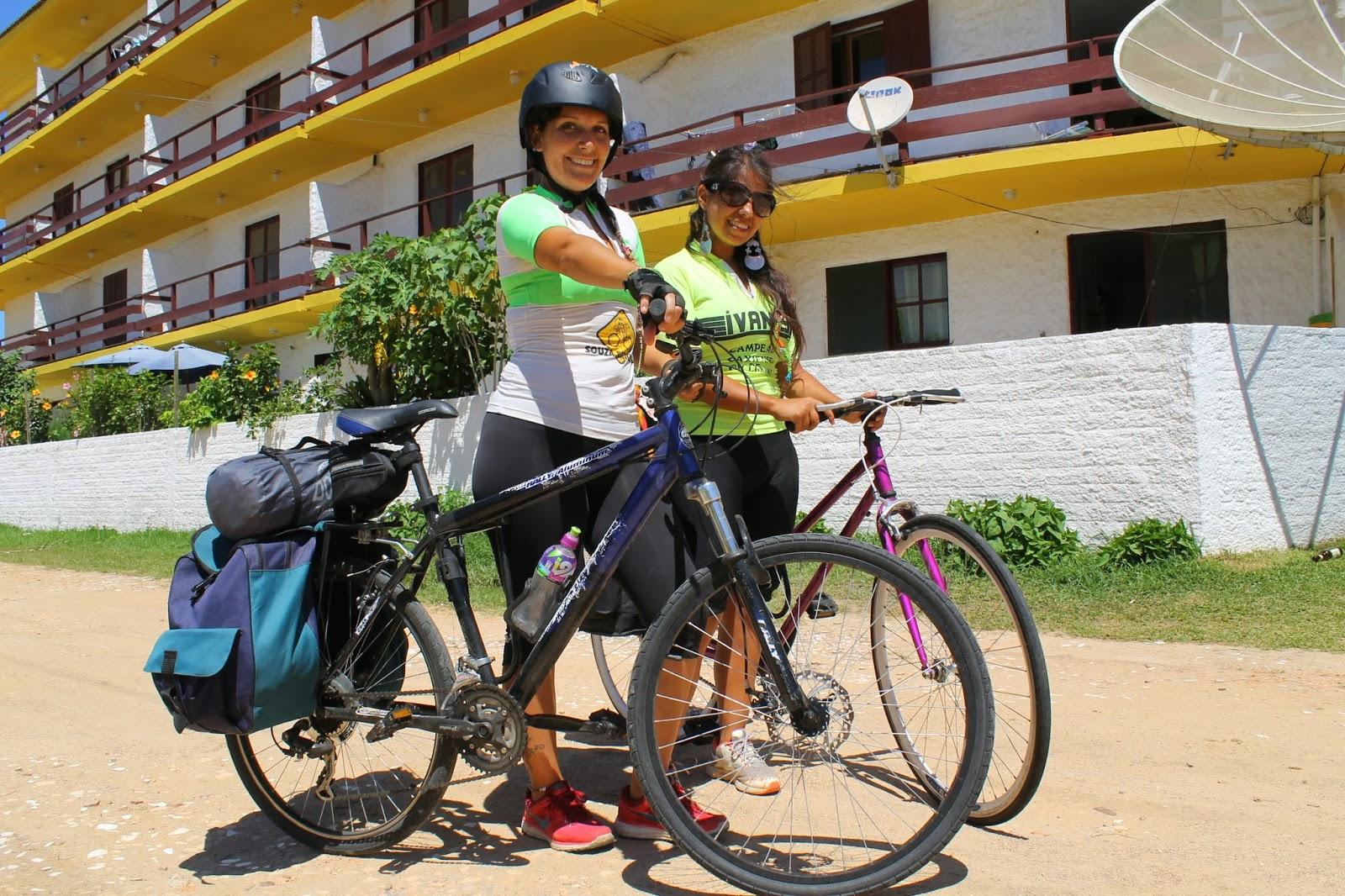 Chilenas viajam de bicicleta para conhecer o Sul do Brasil