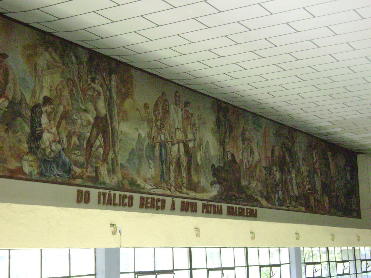 Painel de Aldo Locatelli, em Caxias do Sul