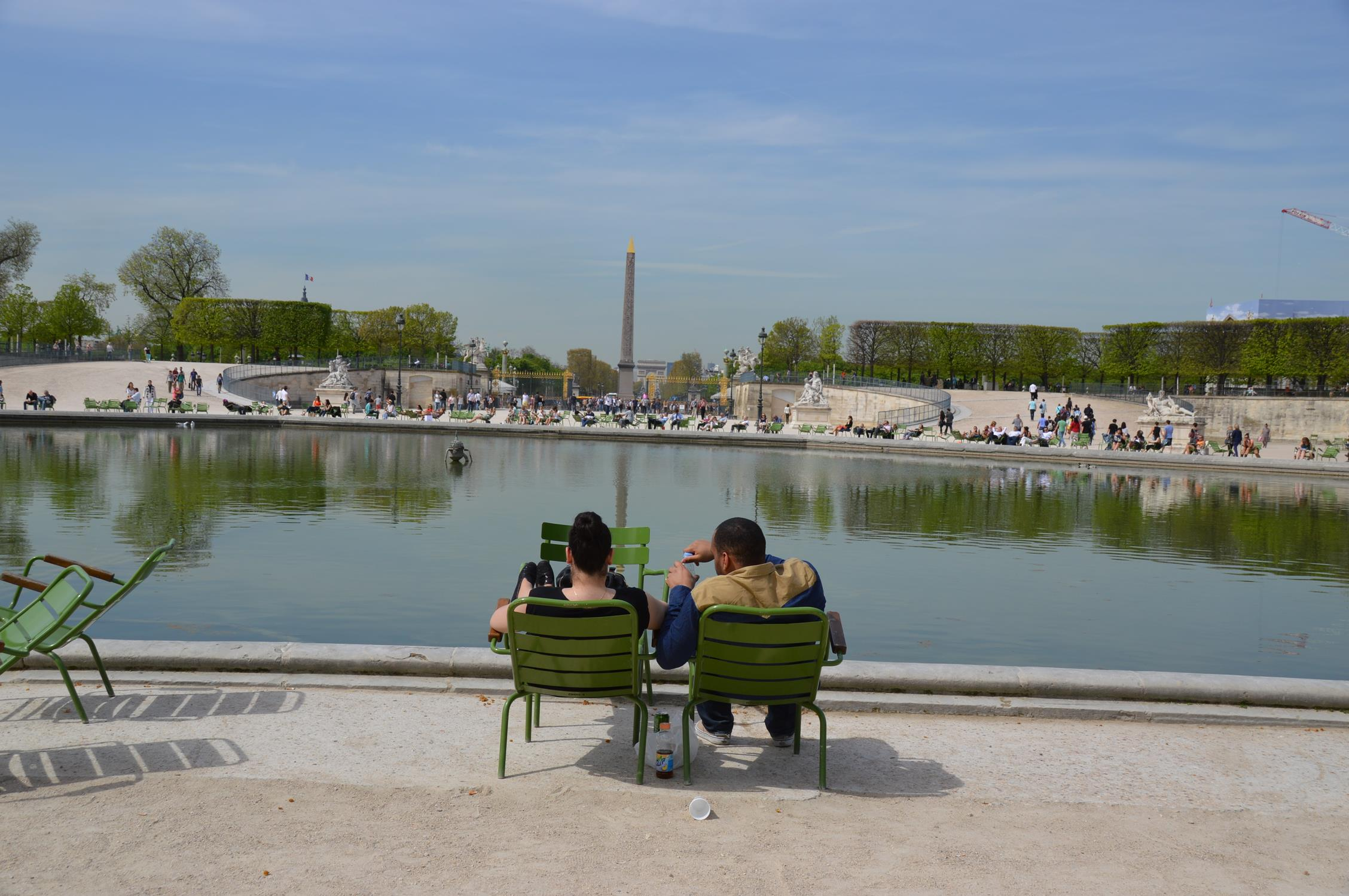 Jardim das Tulherias, em Paris