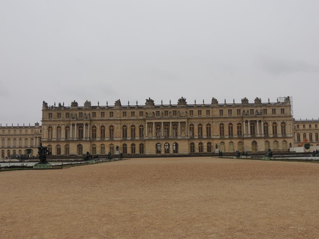 O Palácio de Versalhes, em Versalhes