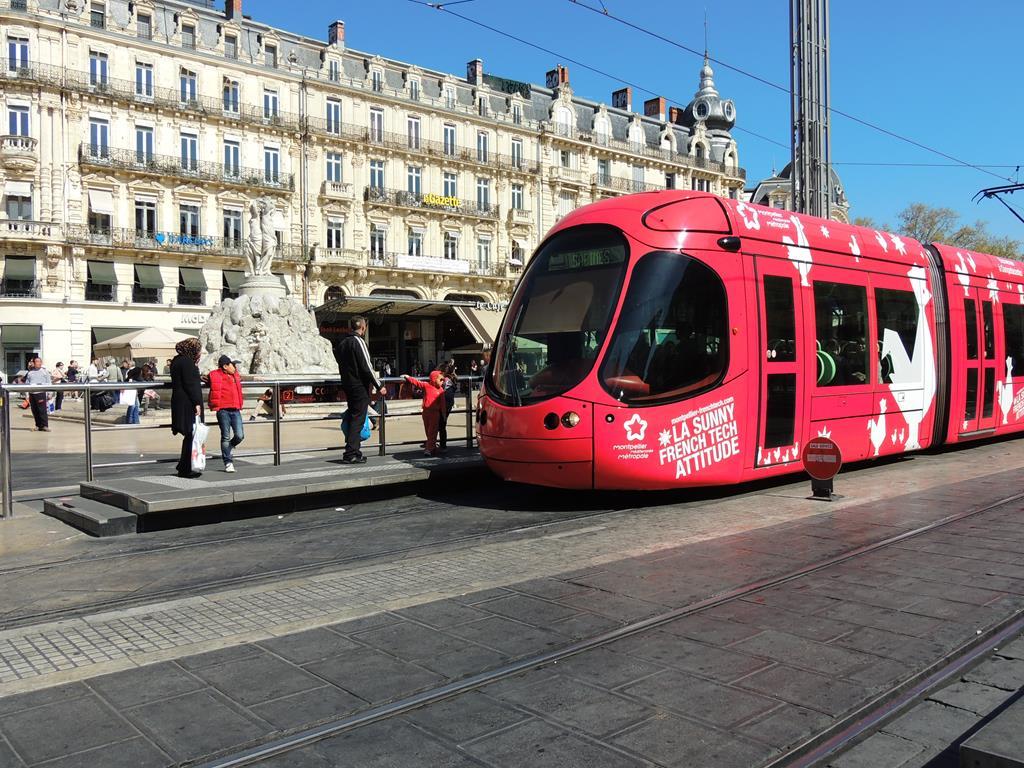 Transporte em Montpellier, França