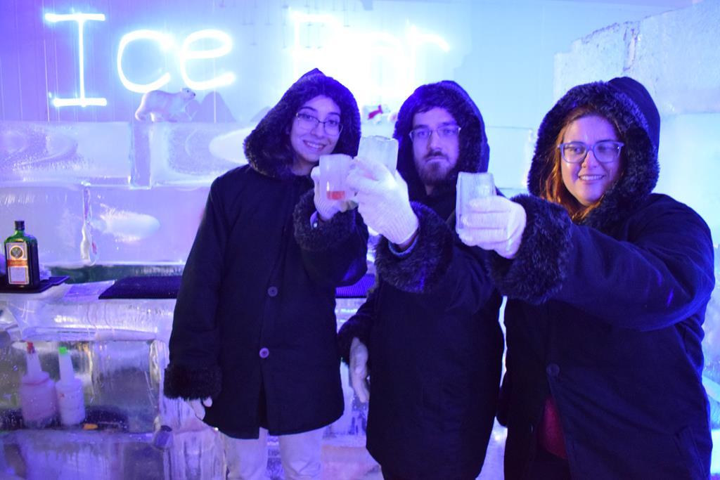 Ice Bar Boreal, em Gramado