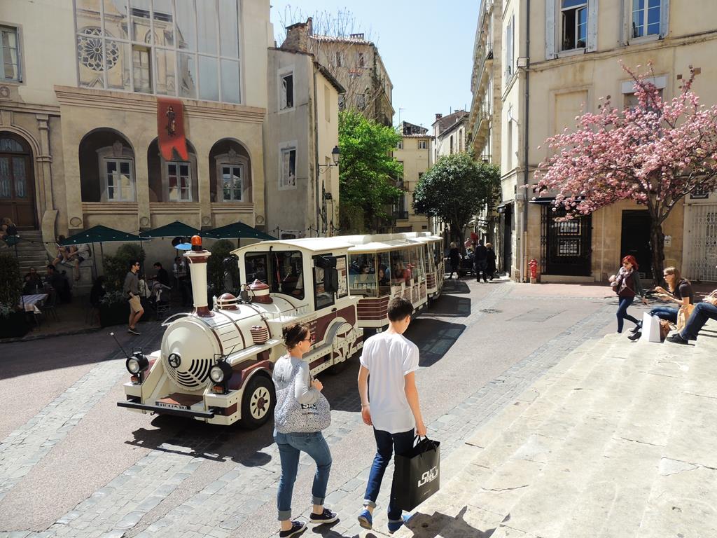 Trenzinho de City Tour em Montpellier